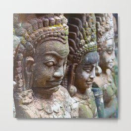 Apsara Carvings Metal Print