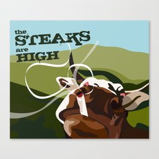 Steaks Are High Canvas Print