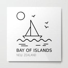 Bay of Islands New Zealand Metal Print