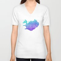 iceland V-neck T-shirts featuring Iceland by Stephanie Wittenburg