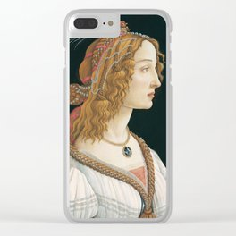 Sandro Botticelli, Idealized Portrait of a Lady, 1480 Clear iPhone Case