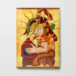 Encantador De Serpientes AZTEC Metal Print