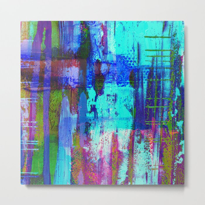 Electric Abstract - Textured, painting Metal Print