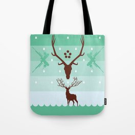 THE STAG & THE REFLECTION Tote Bag