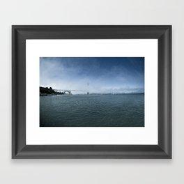 Golden Gate Bridge + Fog Framed Art Print