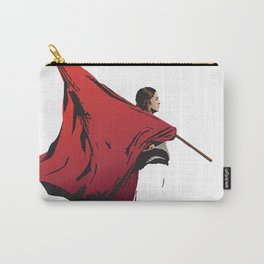 Woman with flag Carry-All Pouch