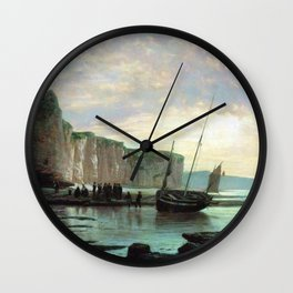 Normandy Beach 1859 By Lev Lagorio | Reproduction | Russian Romanticism Painter Wall Clock