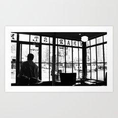 New York Café Art Print