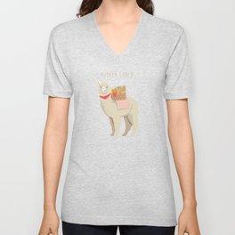 Alpaca Lunch Unisex V-Neck