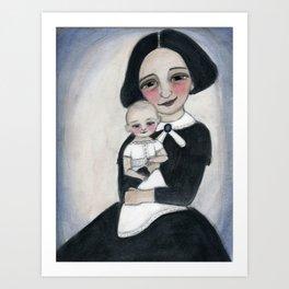 Miss Eva and Elsie Art Print