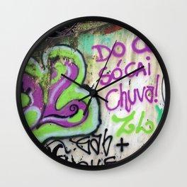 """São Paulo Graffiti """"Do Ceu Só Cai Chuva"""" Wall Clock"""