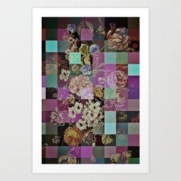 Floral quilt Art Print