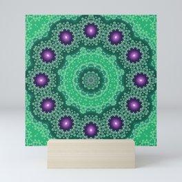 Green mandala 3 Mini Art Print