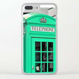Reed Booths Turned Seafoam Clear iPhone Case