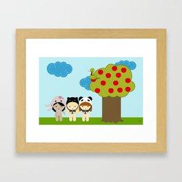 kawaii garden Framed Art Print