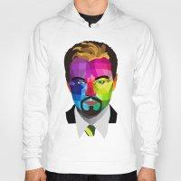 leonardo dicaprio Hoodies featuring Leonardo DiCaprio - popart portrait by Dep's