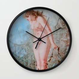 "Luis Ricardo Falero ""Woman at the water's edge"" Wall Clock"