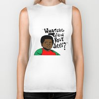 the strokes Biker Tanks featuring Diff'rent Strokes by DeMoose_Art