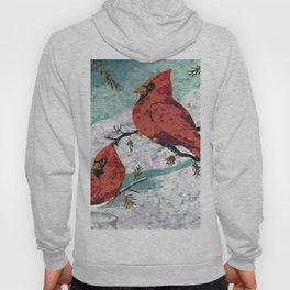 Cardinals In Winter Hoody