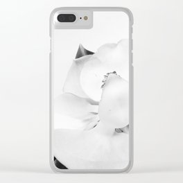 Botanical Magnolia in B&W 2 Clear iPhone Case
