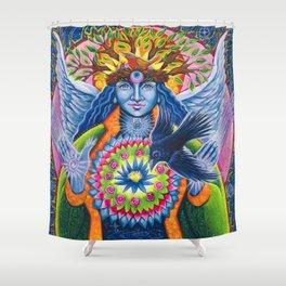Estrella de la Luz - Angel of New Beginnings Shower Curtain