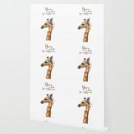 You Are My Sunshine Giraffe Nursery Animals Watercolor Art Wallpaper