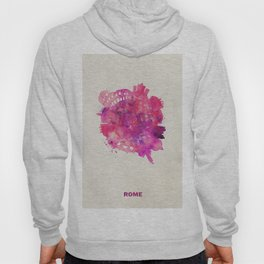 Rome, Italy Colorful Skyround / Skyline Watercolor Painting Hoody