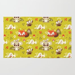 Sleeping Woodland Animals Rug