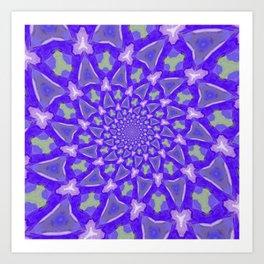 The blue pattern Art Print