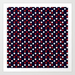Red Poá Art Print