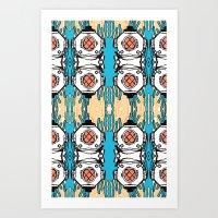 scuba Art Prints featuring Scuba Squad by Marc Douglas Weiss