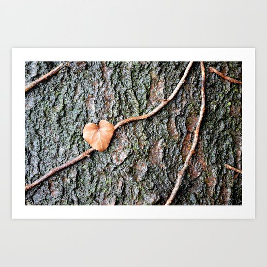 Heart and tree Art Print