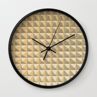 pyramid Wall Clocks featuring pyramid by Ioana Luscov