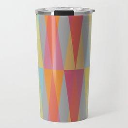 Party Argyle on Grey Travel Mug