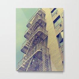 NY Vintage Stairs Metal Print