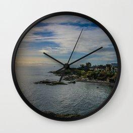 seaside homes Wall Clock