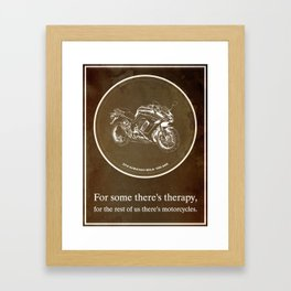 2016 Kawasaki Ninja 1000 ABS Quote - For some there's therapy Framed Art Print