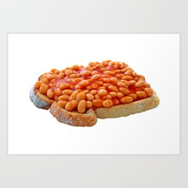 Beans on Toast Art Print