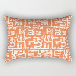 Alligator Alley Pattern Orange Rectangular Pillow