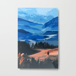 Mountains, Protectors of the Earth Metal Print