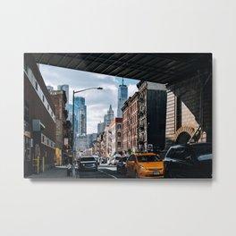 Chinatown Street Scene in Lower Manhattan New York City Metal Print