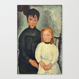 """Amedeo Modigliani """"Les deux filles"""" Canvas Print"""