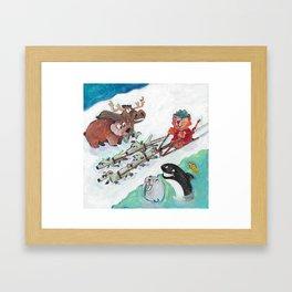 Alaska Cats Framed Art Print