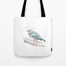 fat little blue bird  Tote Bag