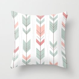 Arrow Fletching Textile Pattern, Geometric Pattern, Angle, Gray, Geometric Pattern Throw Pillow