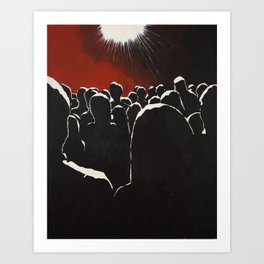 Crowd Art Print