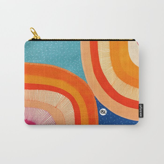 ORANGE-IN-A RAINBOW Carry-All Pouch
