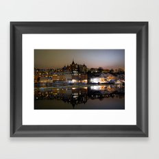 Stockholm by night Framed Art Print