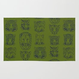 Kickass Kitties - jungle Rug