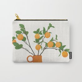 Orange Branches Carry-All Pouch